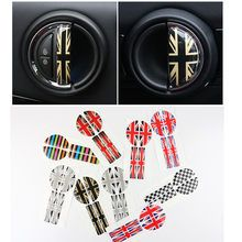 England Style 3D rubber black union jack car interior door handle stickers accessories