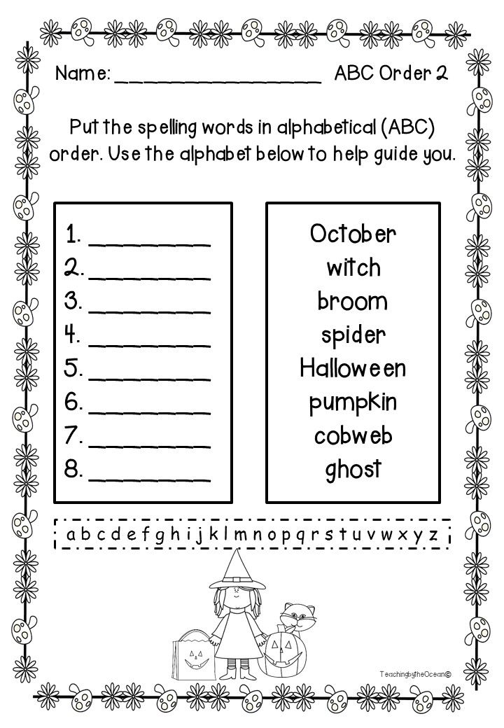 Do your students need extra practice with ABC Order? If so, here is a solution! Included are 20 pages where students write the words in alphabetical order.  This pack has a set of words for Fall time.  It's perfect for centers, homework and early finishers.