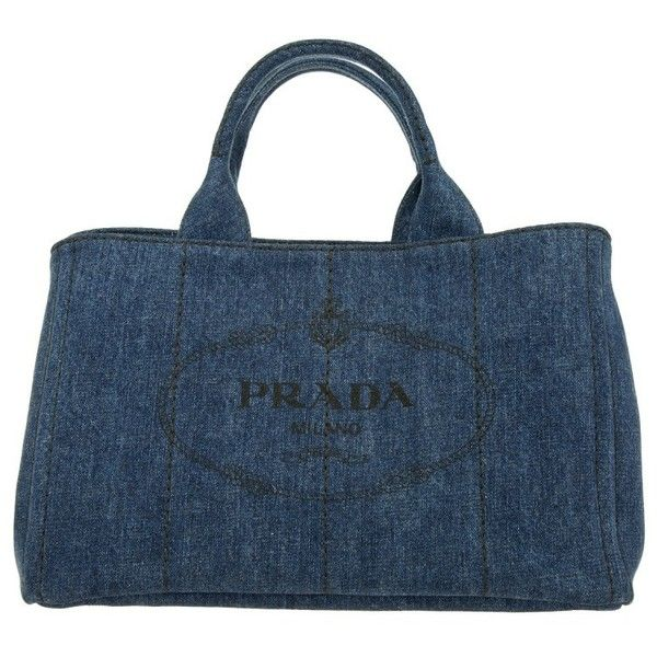 Prada Shoulder Bag - Canapa Denim Shopping Bag Bleu - in blue -... ($525) ❤ liked on Polyvore featuring bags, handbags, totes, blue, prada handbags, blue tote handbags, handbags totes, prada purses and shoulder bag purse
