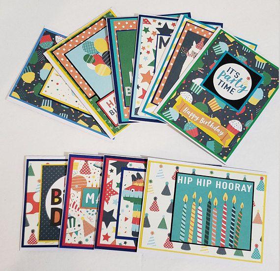 Handmade Birthday Cards Birthday Card Set Of 10 Birthday Etsy Handmade Birthday Cards Birthday Greeting Cards Birthday Cards