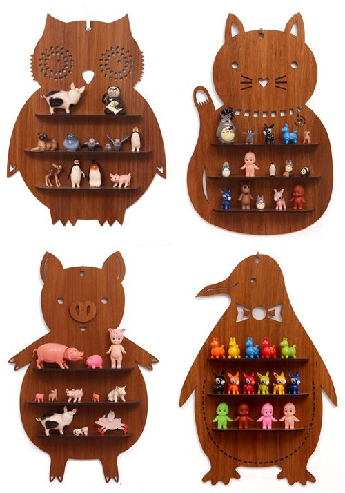 Animal Shaped Wooden Shelves