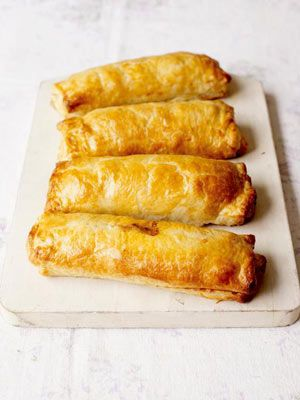 Jamie Oliver's Mini Beef Wellingtons- he uses minced beef instead of beef fillet. You could use pork or lamb mince instead, or even a mixture, enjoy = )