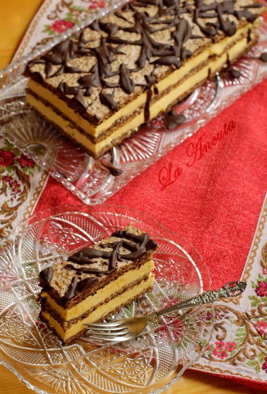 La Ancuţa: Prajitura cu nuca si crema de vanilie
