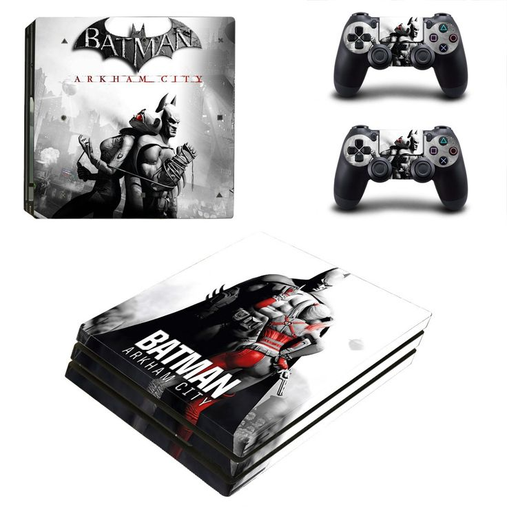 Batman Arkham City ps4 pro edition skin decal for console and controllers
