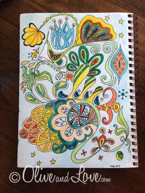 art journal doodle