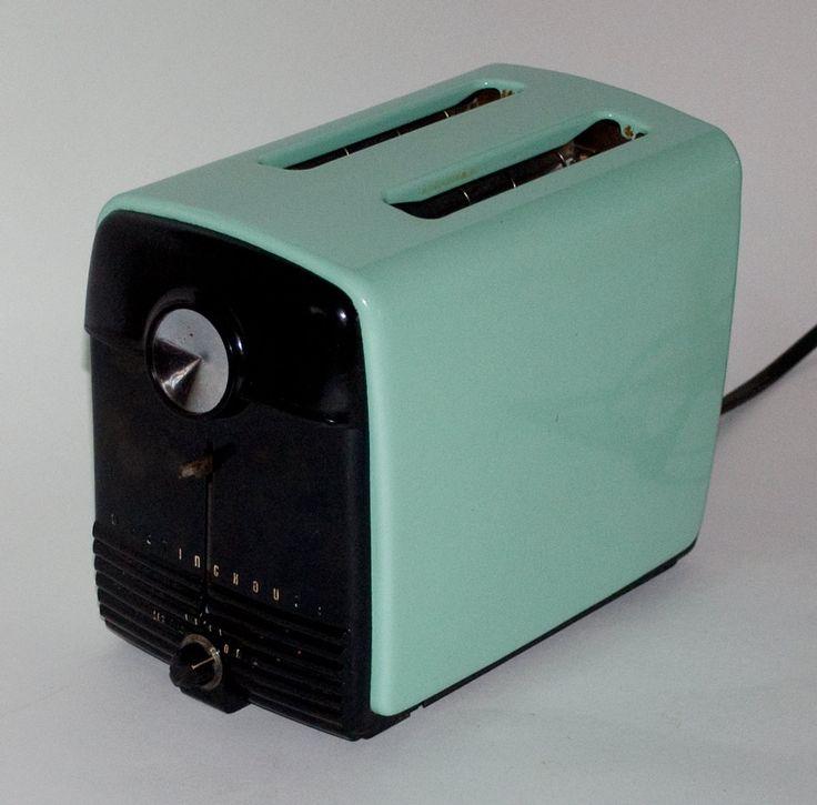 Vintage Westinghouse Enamel Toaster Iconic Aqua Color