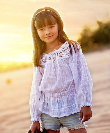 Loving this White Floral Azucena Top - Infant, Toddler & Girls on #zulily! #zulilyfinds