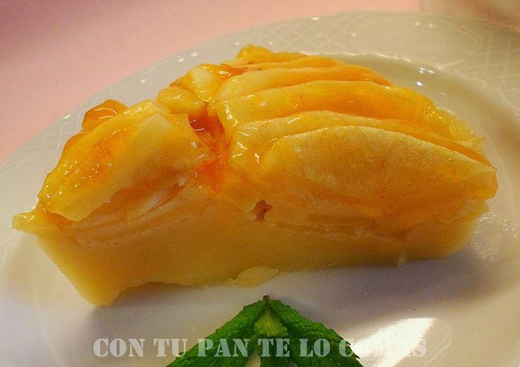 Con tu pan te lo comas: TARTA DE MANZANA LIGHT (MICROONDAS)