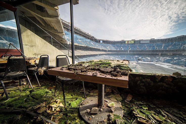 Abandoned Silverdome Stadium, Detroit