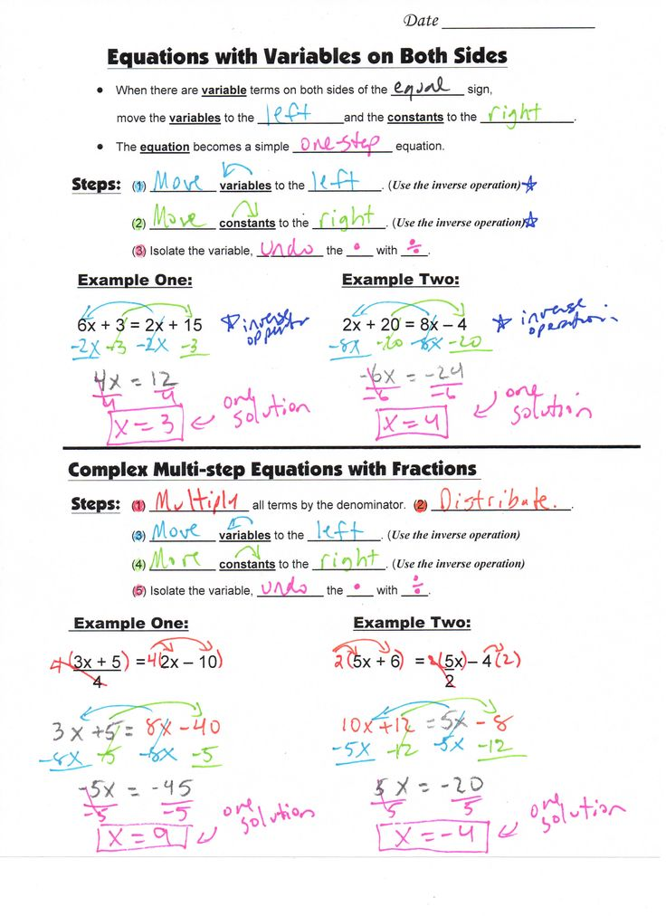 274 best INB-Algebra-Equations images on Pinterest | Teaching math ...
