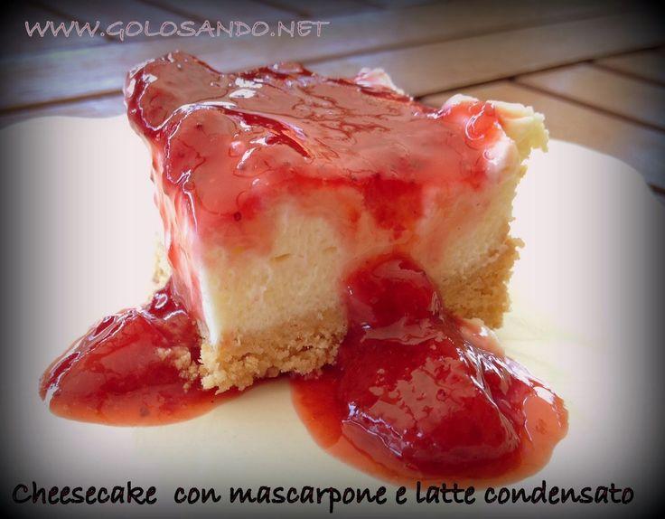 Golosando...serenamente!: Cheesecake con mascarpone, latte condensato e sals...
