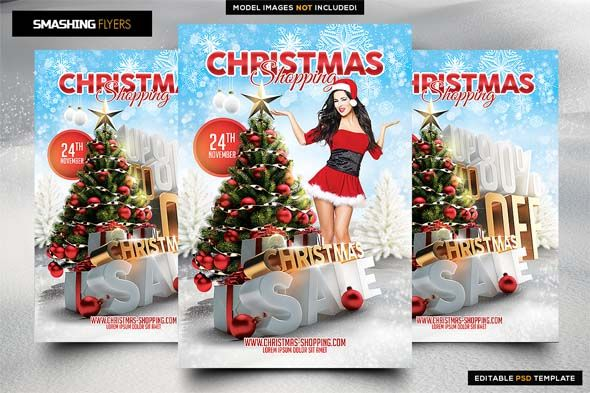 christmas-shopping-flyer-template Christmas Shopping Flyer Template - Flyers Like Save Christmas Shopping Flyer Template - Flyers - 1 Christmas Shopping Flyer Template - Flyers - 2 Christmas Shopping Flyer Template - Flyers - 3 Christmas Shopping PSD flyer template Promote your event with this highly customizable Christmas Shopping Flyer PSD template. Important: This file can only be opened and edited in photoshop Details: 300 DPI Christmas tree is a 3D render everything on separated layers…