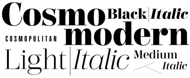 Typeface for Cosmo magazine