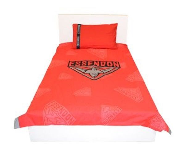 SINGLE DOUBLE OR QUEEN Size ESSENDON BOMBERS AFL OFFICIAL LICENSED DOONA COVER SET