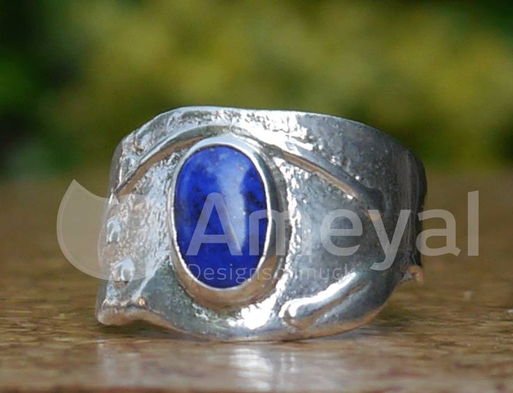 Blue sky - Silver ring with Lapislazuli from Afghanistan