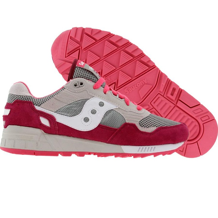 Saucony Womens Shadow 5000 (grey / red) 60033-20 - $64.99