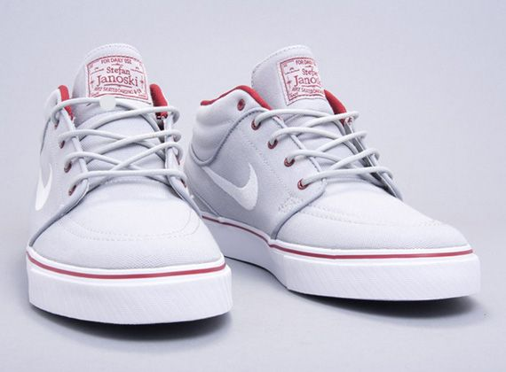 "Nike Zoom Stefan Janoski Mid ""Wolf Grey"" #shoes"
