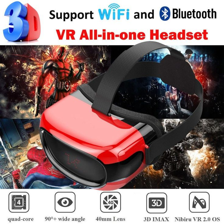 Cawono All in one 3D VR Glassess Headset VR box With Wifi Bluetooth 4.0 Virtual Reality for xiaomi Android Smartphones 5.1 //Price: $68.43//     #Gadget