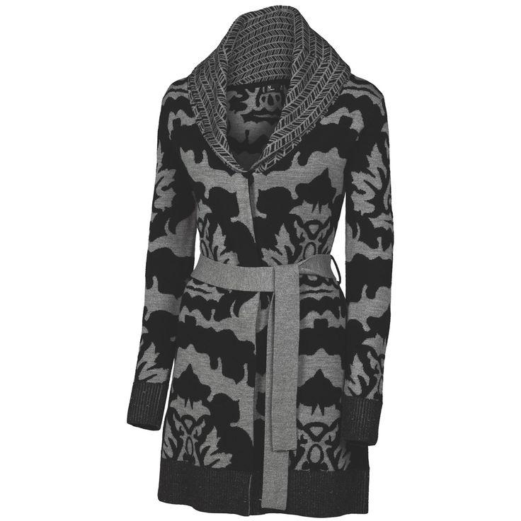 Neve Sophie Long Wrap Cardigan Sweater - Merino Wool (For Women) in Black $159