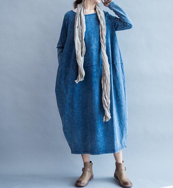 Fabrics; cotton Color; blue, dark gray Size Shoulder 39cm / 15  Bust 112cm / 44  Sleeve 58cm / 23  Length 112cm / 44    Have any questions please contact