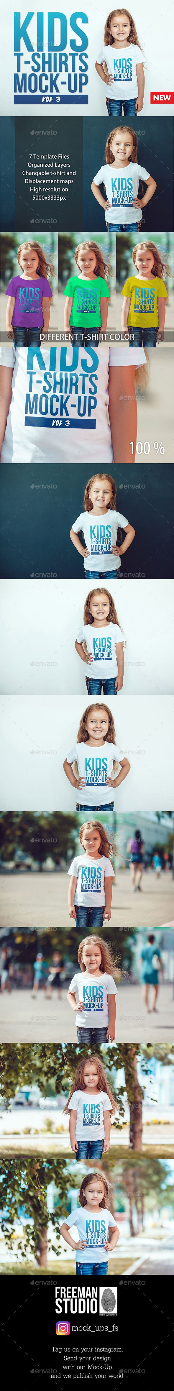Kids T-Shirt Mock-Up by Freeman_Studio Kids T-Shirt Mock-Up 聽____________________________________________________________________ Easy to place your designs using smart