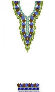 8504 Neck Embroidery Design