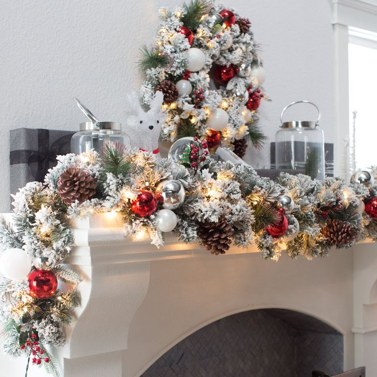 Belham Living Frosty Decorated 9 ft. Pre-Lit Garland | from hayneedle.com