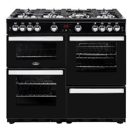 Belling COOKCENTRE 100G BLACK 1000mm Gas Range Cooker 7 Burners Inc WOK Black http://www.MightGet.com/january-2017-13/belling-cookcentre-100g-black.asp