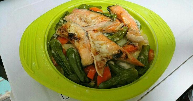 蒸し鮭&蒸し野菜⭐シリコンスチーマー by ぽちゃママ☆二児の母 [クックパッド] 簡単おいしいみんなのレシピが264万品