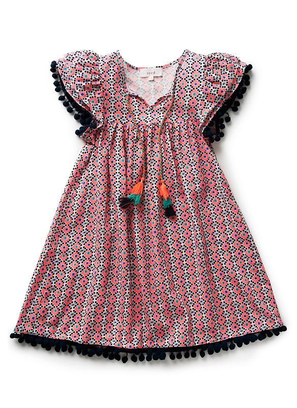 Girls Dresses & Tunics | Pom Pom Dress | Seed Heritage