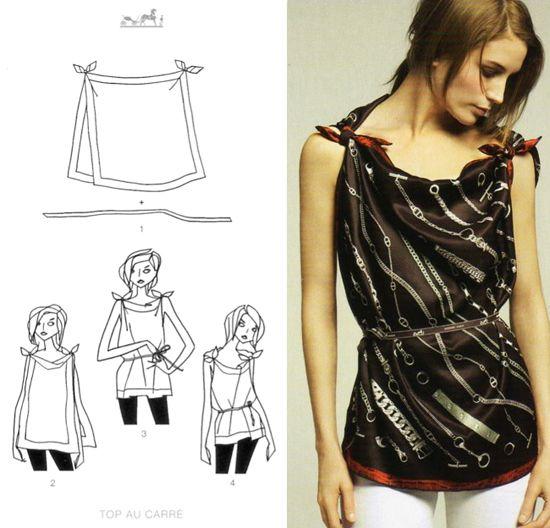 19 Hermes scarf knotting cards part. 2 ispirazioni fai da te accessori  slider Hermes foulards fai da te D.I.Y. Cristina accessori