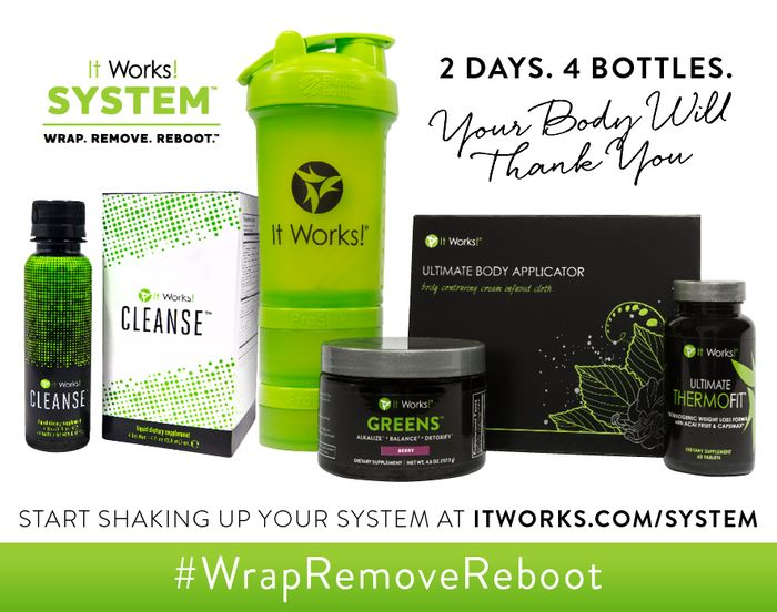 """Get ready to SHAKE UP your system! While cleansing, it is important to maintain a healthy, well balanced diet—so don't forget all your """"remove and replace"""" eating habit tips! It's a system so simple we can explain it in three words: #WrapRemoveReboot"""
