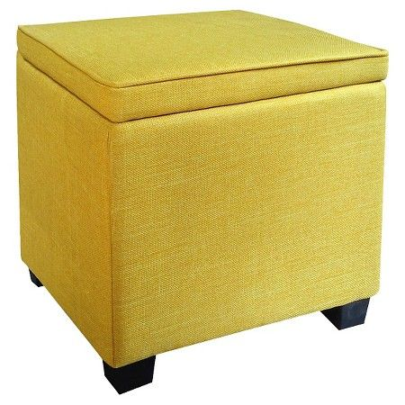Room Essentials™ Storage Ottoman with Feet - Turquoise Blue : Target