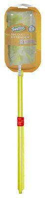 Procter & Gamble 80900 Swiffer 360 Duster Extendable Handle Starter Kit (Pack of 12) by Procter & Gamble. $139.99. Swiffer 360 Duster Extendable Handle Starter Kit, Assembled Includes: Extendable Handle & 3 Dusters, Handle Extends To 3' Long & Allows The Swiffer Duster To Reach & Dust Even More Areas, The Flexible Head Can Be Repositioned To Accommodate Dusting In Hard To Reach Areas, Ideal For Uneven Surfaces, Vertical Blinds, TV/Stereo Equipment, Ceiling Fans, L...