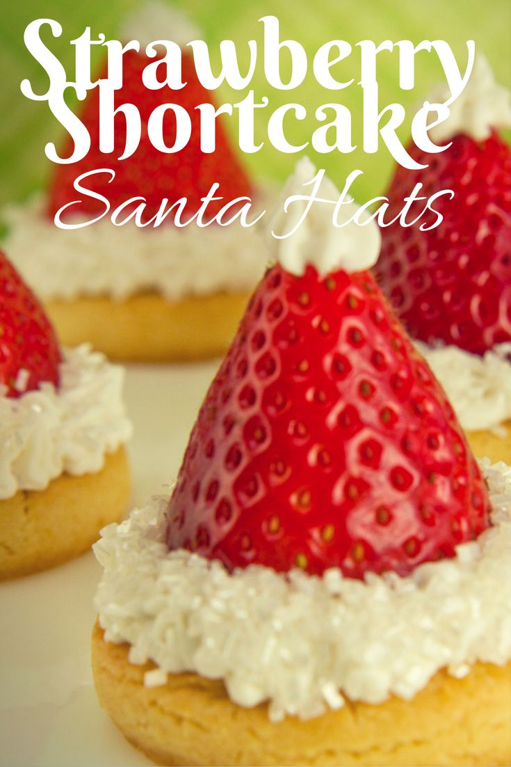 Cute And Simple Santa Hats Made From Strawberry Shortcake