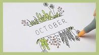 Monthly cover Ideas for Bullet Journal / Planner. 3 ideas for October cover :) #…