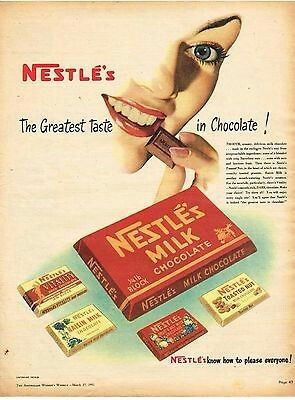 Nestles Milk Chocolate ~ Australia 1950s.