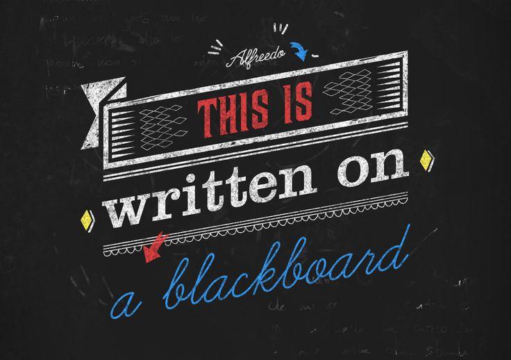 Alfreedo free stuff - Mockup - Blackboard - Custom, Type, Font, Texture, Blackboard, Stefano marvulli