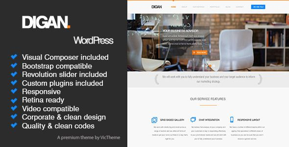Digan Multipurpose WordPress Business Theme