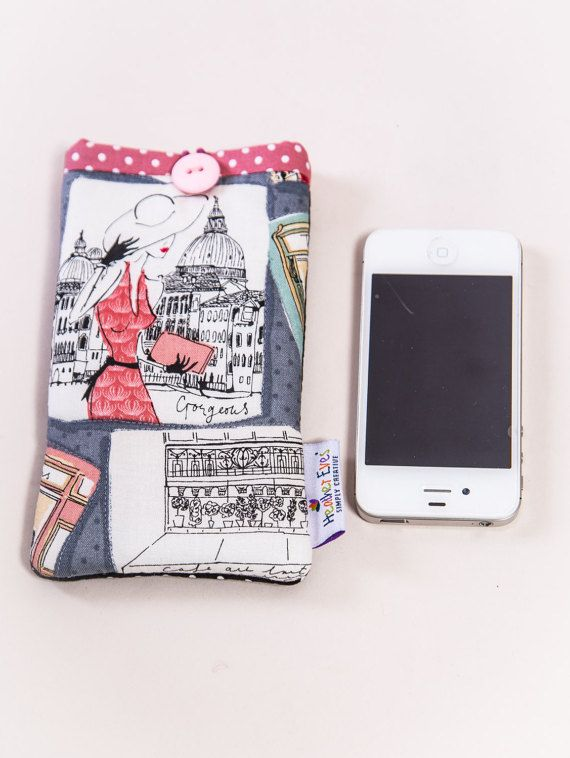 Parisienne chic glasses or phone cover by HeatherEvesShop on Etsy