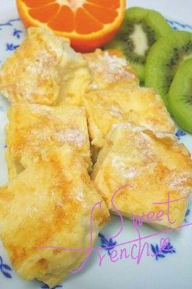 新改良!高野豆腐ふわふわフレンチトースト   材料 (1人分) 高野豆腐 1枚 牛乳 高野豆腐が浸るくらいの100ccくらい 卵 1個 砂糖(カロリーオフのものでも可) 甘めでお好みで バニラエッセンス 少々 焼くときフライパンにしく用バター