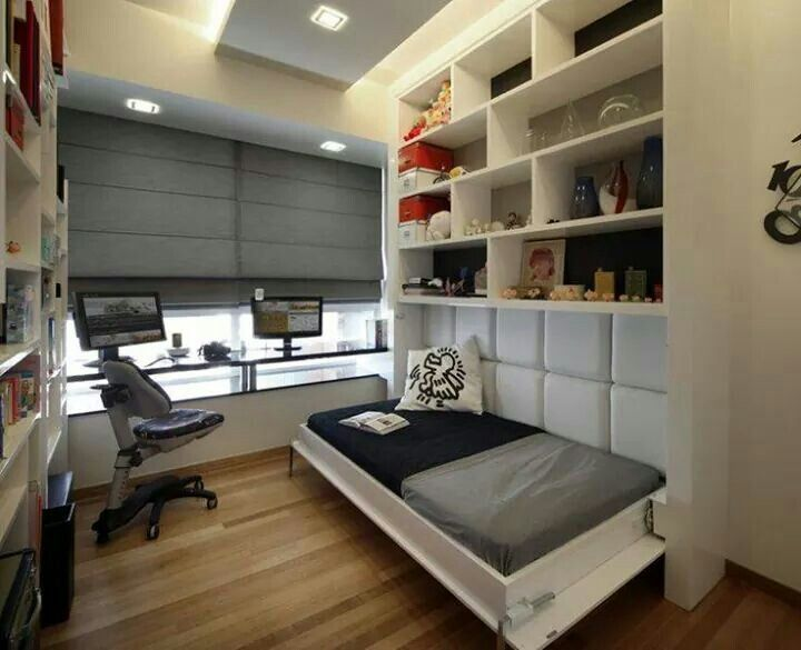 cool idea for an office room murphy bed the aalto modern bedroom other metro the interior place s pte ltd - Modern Home Office Guest Room
