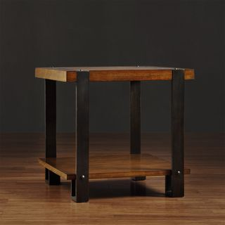 @Overstock.com - Lawson Brass and Reclaimed Wood End Table - This Lawson piece is a modern, minimalist table featuring steely brass metal and the warmth of reclaimed wood. A handy lower shelf offers space for storage.  http://www.overstock.com/Home-Garden/Lawson-Brass-and-Reclaimed-Wood-End-Table/7951816/product.html?CID=214117 $184.99
