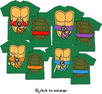 TMNT Teenage Mutant Ninja Turtles Costume Green T-shirt
