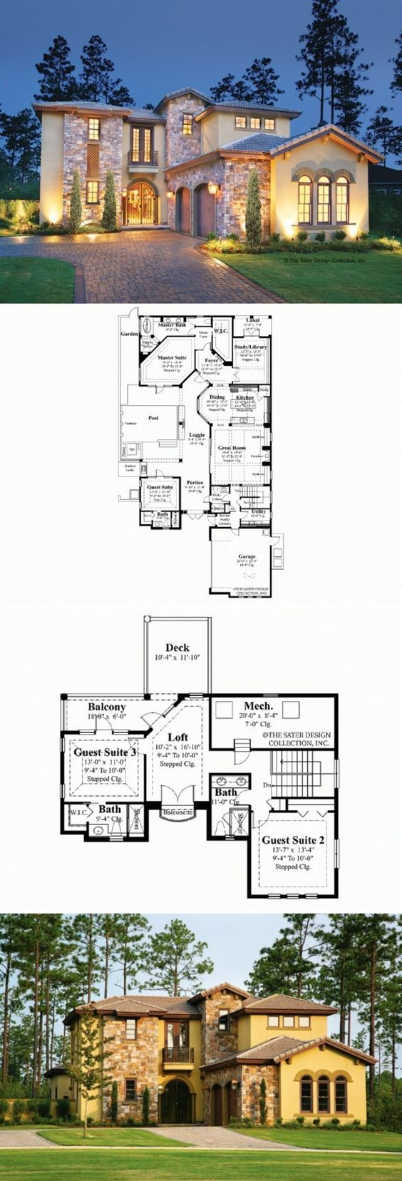 Mediterranean House Plan HWEPL13160 459 best