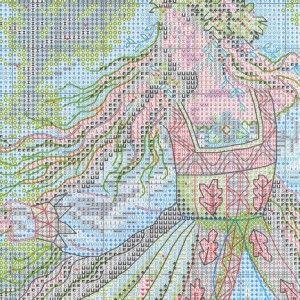 Схема вышивки Лесная колдунья (Dimensions) 2 из 6