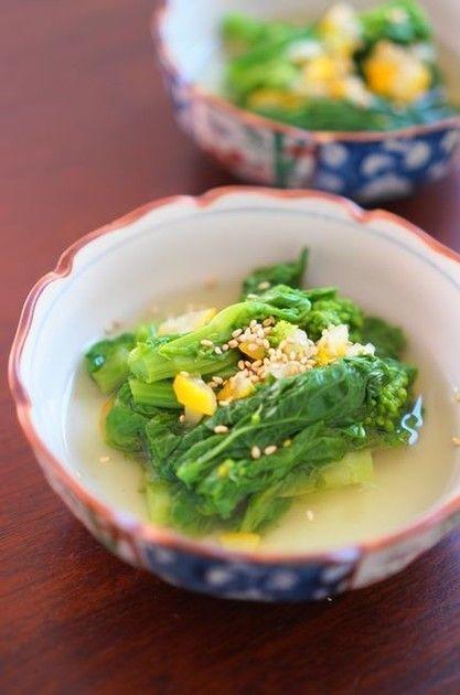 塩ゆずであっさり上品に♡菜の花のおひたしレシピ♡