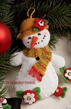 Image result for jeweled felt christmas ornaments
