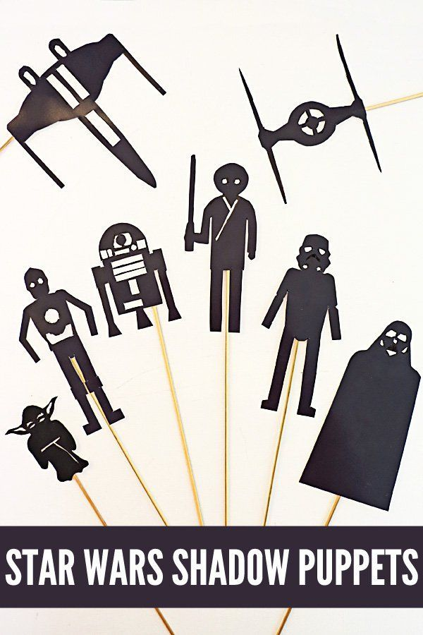 Star Wars Activity Ideas: Shadow Puppets Printable