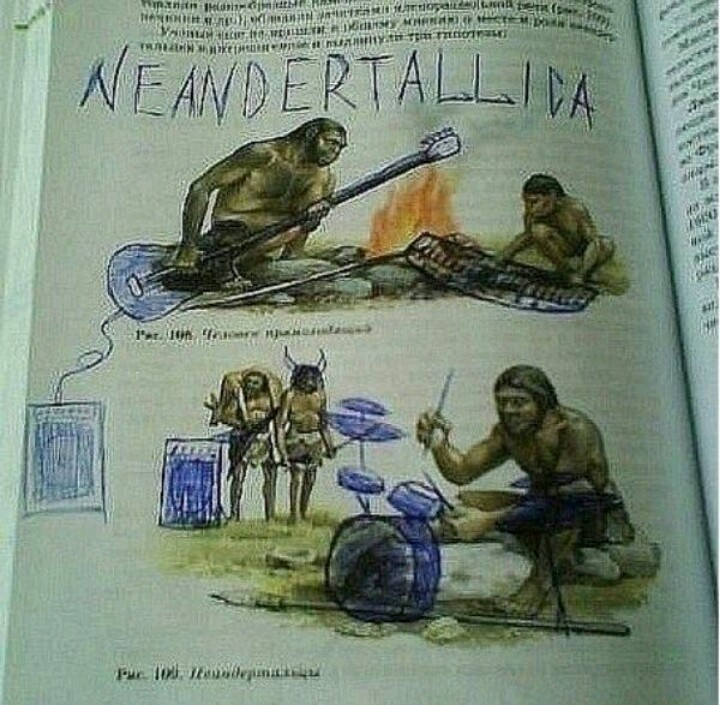 Neanderthallica: Funny Texts, Old Schools, Dust Jackets, Classic Rocks, Neandertallica, Book Jackets, Schools Kids, Heavy Metals, Dust Covers